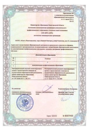 Лицензия на осуществление образовательной деятельности № 653 академия новой экономики ассоциация электронных торговых площадок страница 3